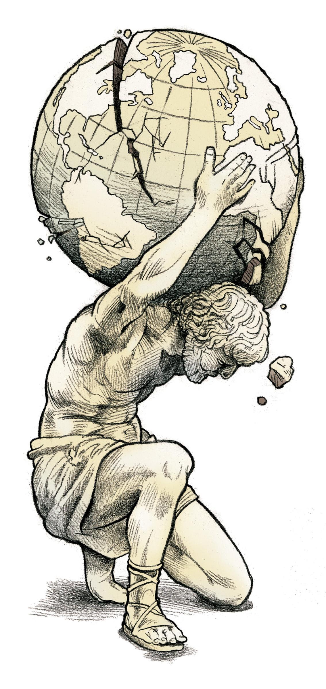 Statue Of Atlas Drawing | www.imgkid.com - The Image Kid ...