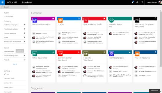 SharePoint16NewHomePage